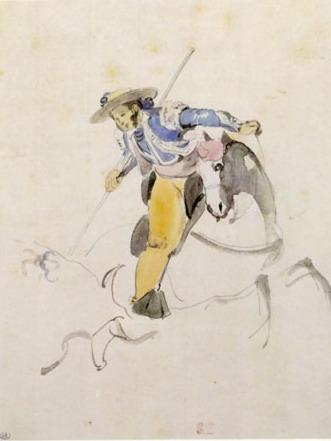 Eugène Dlacroix - Le picador