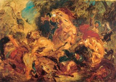 Eugène Delacrois - La chasse aux lions (1861 - Art Institute Chicago)