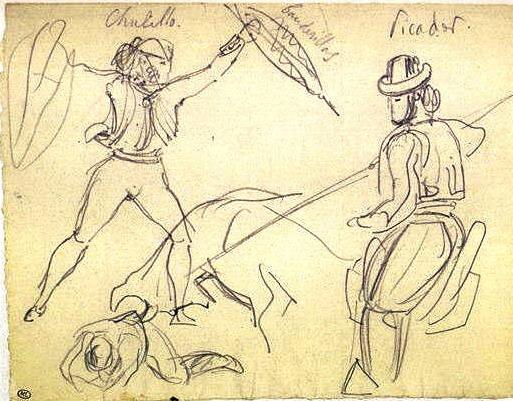 Eugène Delacroix - Picador et Chulillo