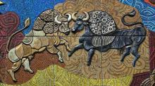 Le mur du Tain à Dublin création contemporaine illustrant le Tain Bo Cuailnge